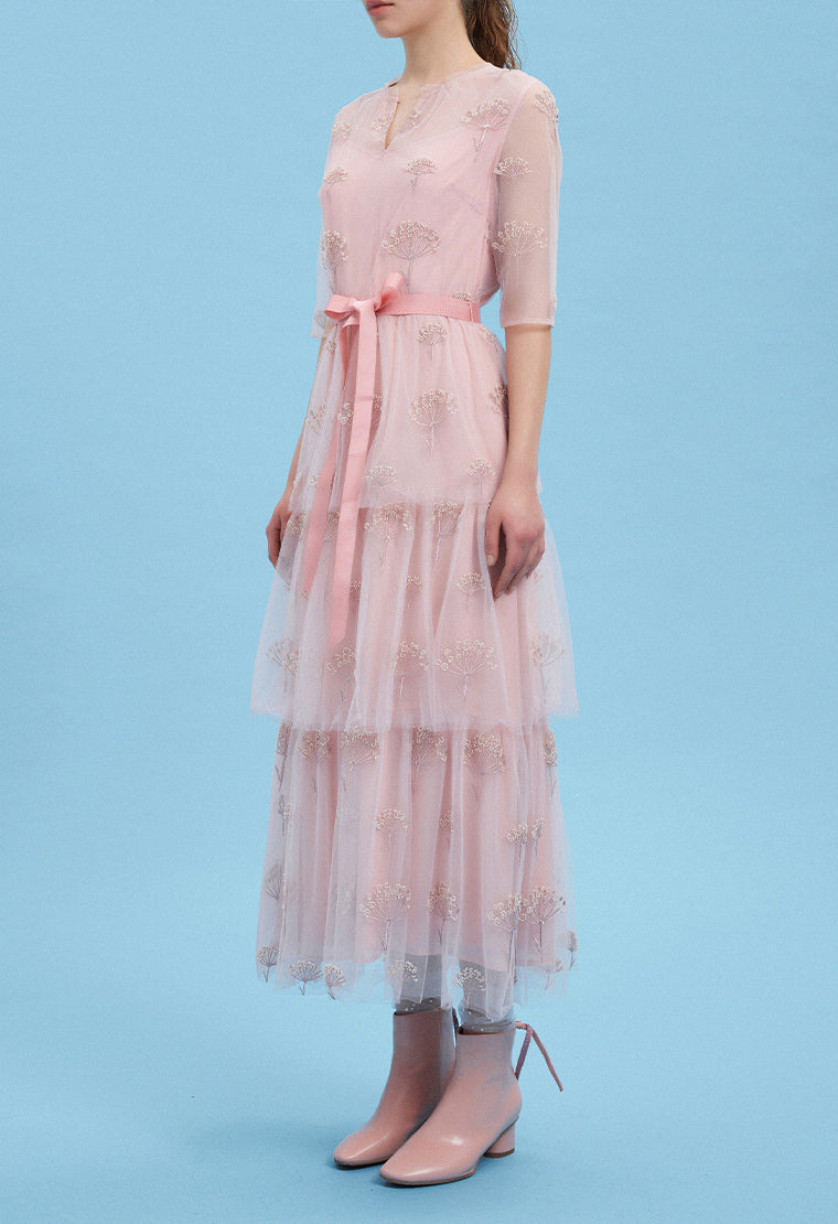 Light pink mesh dress