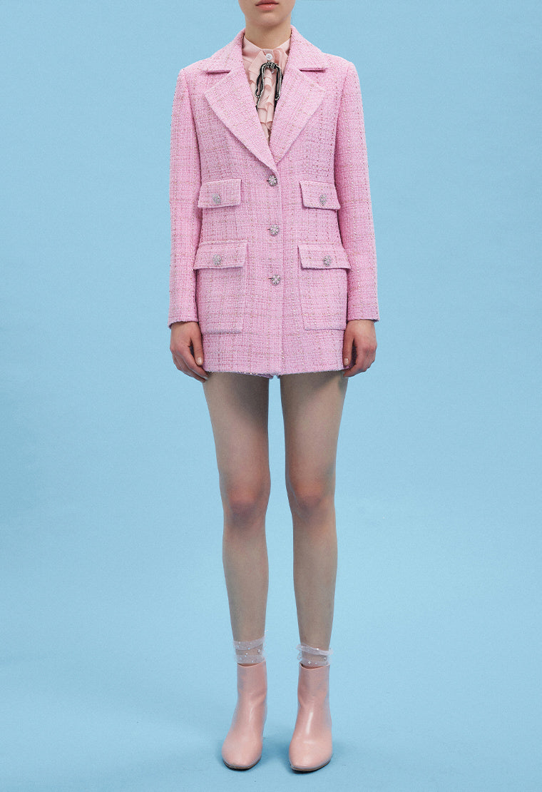Light pink tweed coat