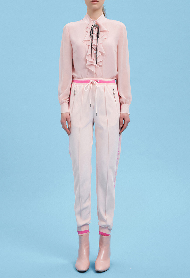 Antibacterial  pastel color sports pants