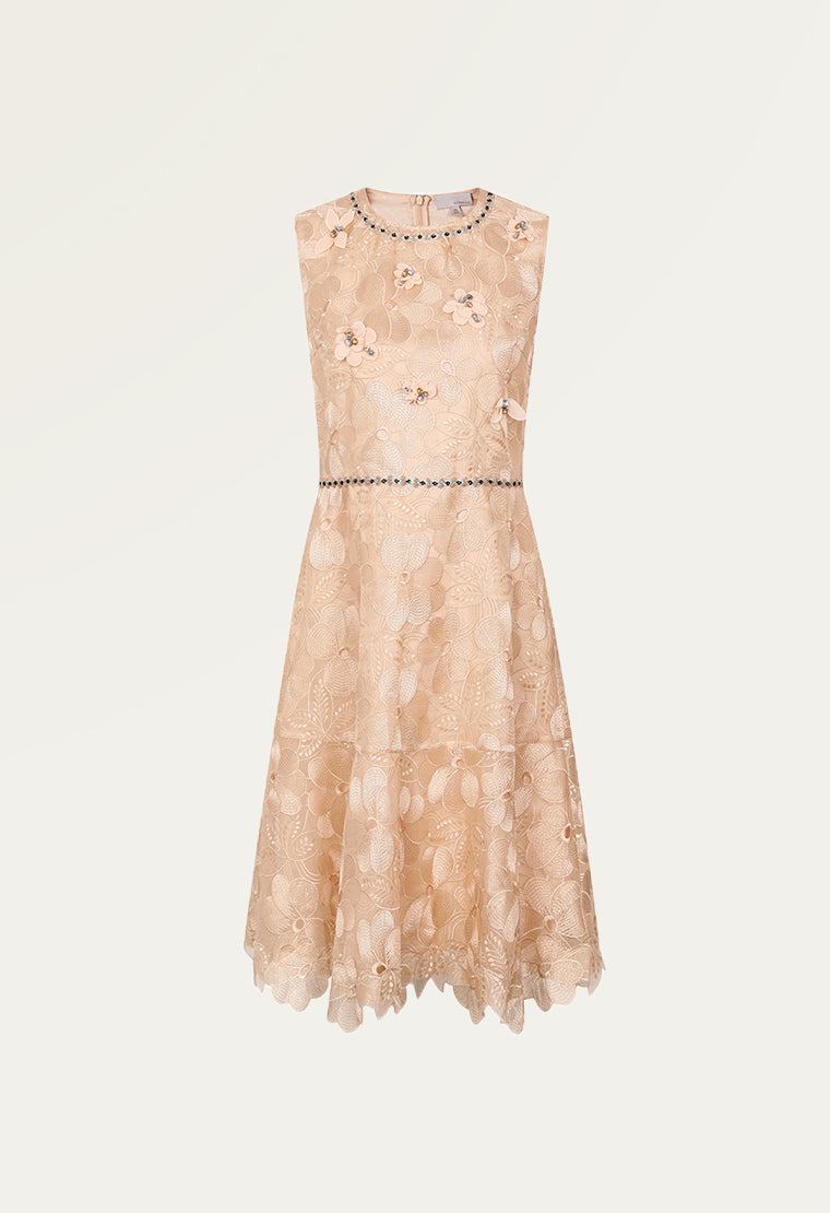 Romantic organza dress