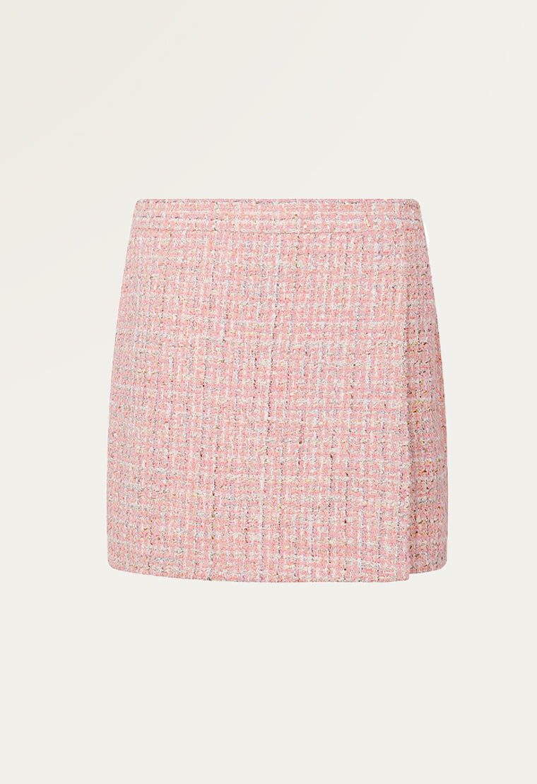 A-lined pretty tweed skirt