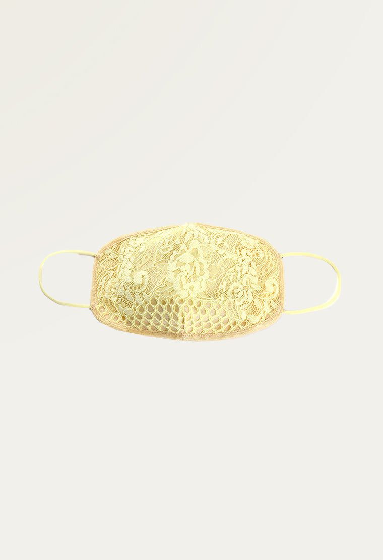Reusable three-layer lace face mask