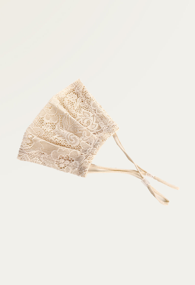 Reusable Single layer lace face mask