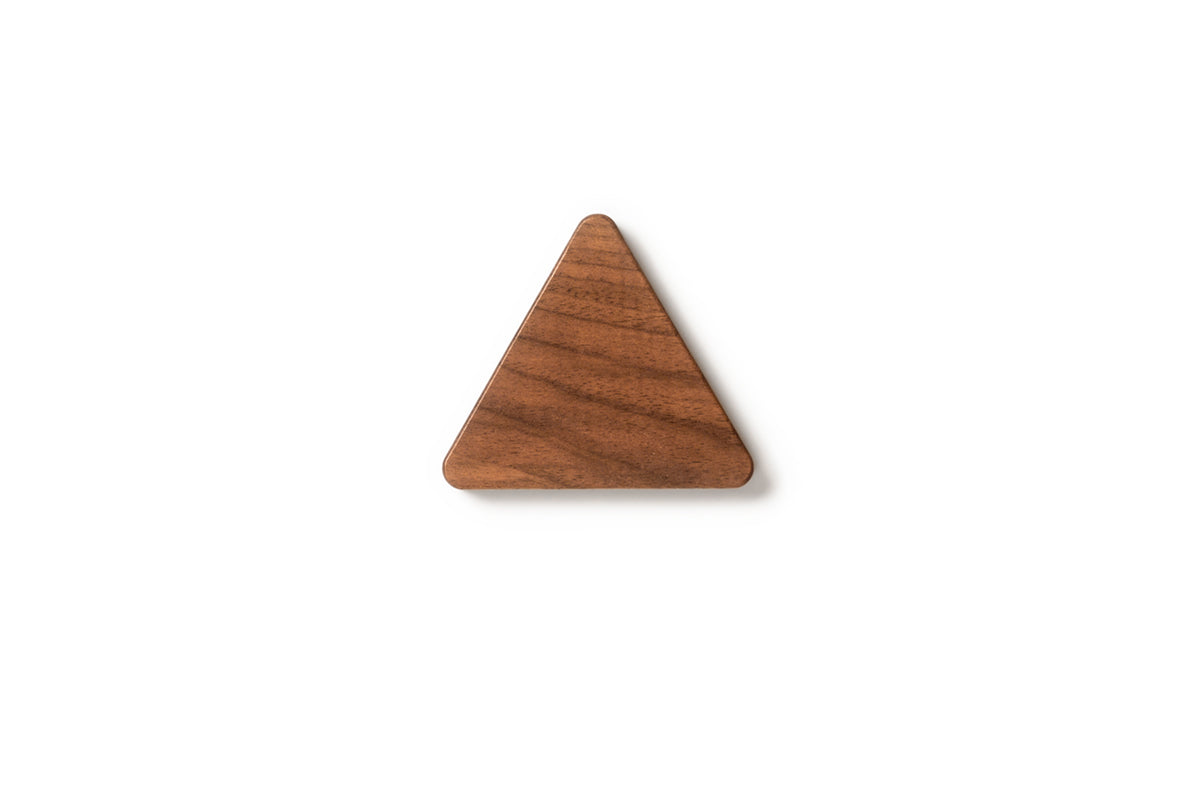 Support magnetique Triangle Noyer