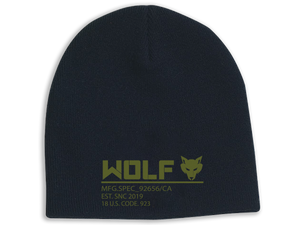 Tagged Beanie - Wolf Tactical