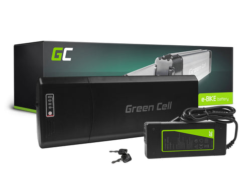 Green Cell Batteri 36V 12Ah 432Wh Rear Rack til E-bike Pedelec