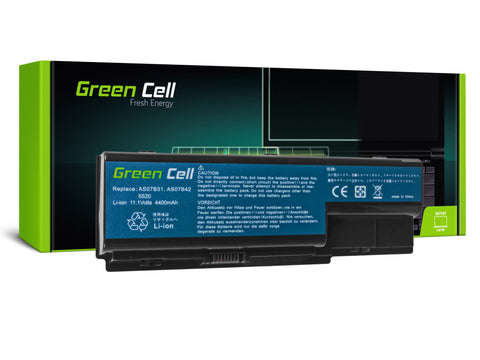 Green Cell Batteri til Acer Aspire 5520 as07b31 AS07B32 / 4400mAh 11.1V