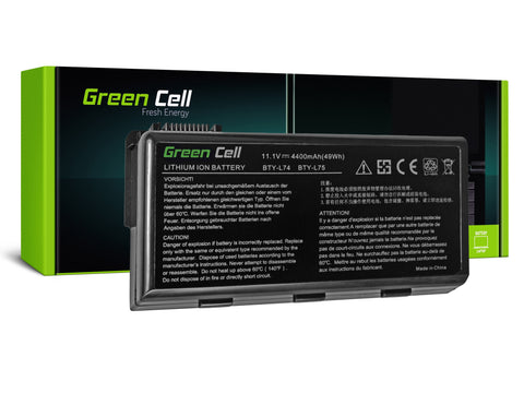 Green Cell Batteri til MSI A6000 CR500 CR600 CR700 CX600, CX500 / 4400mAh 11.1V