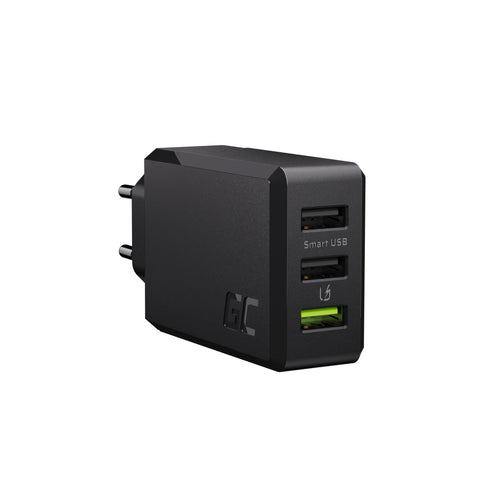 3-port oplader GC ChargeSource3 3xUSB 30W med ultra hurtig opladning og Smart Charge Charge