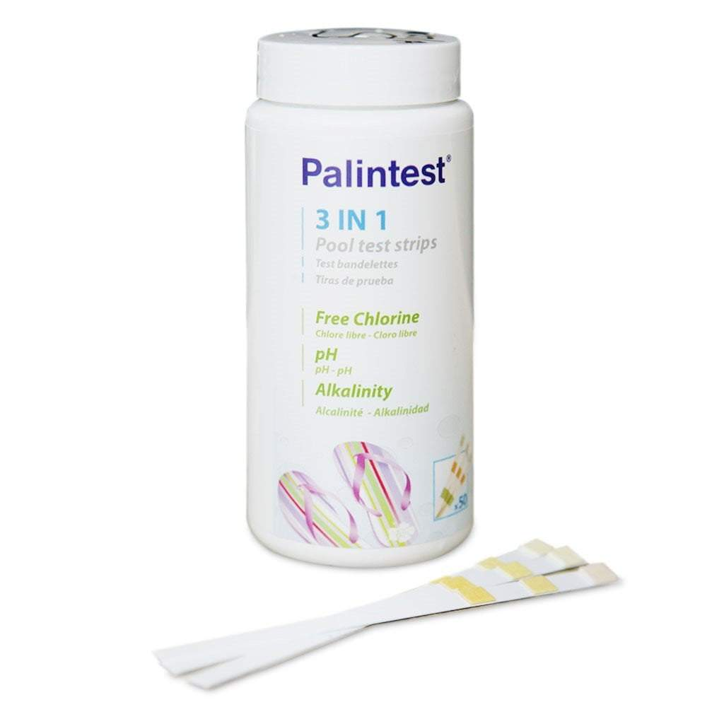 Hot Tub / Spa 3 in 1 Water Test Strips - Tests Chlorine, pH and Alkalinity ( Palintest  )