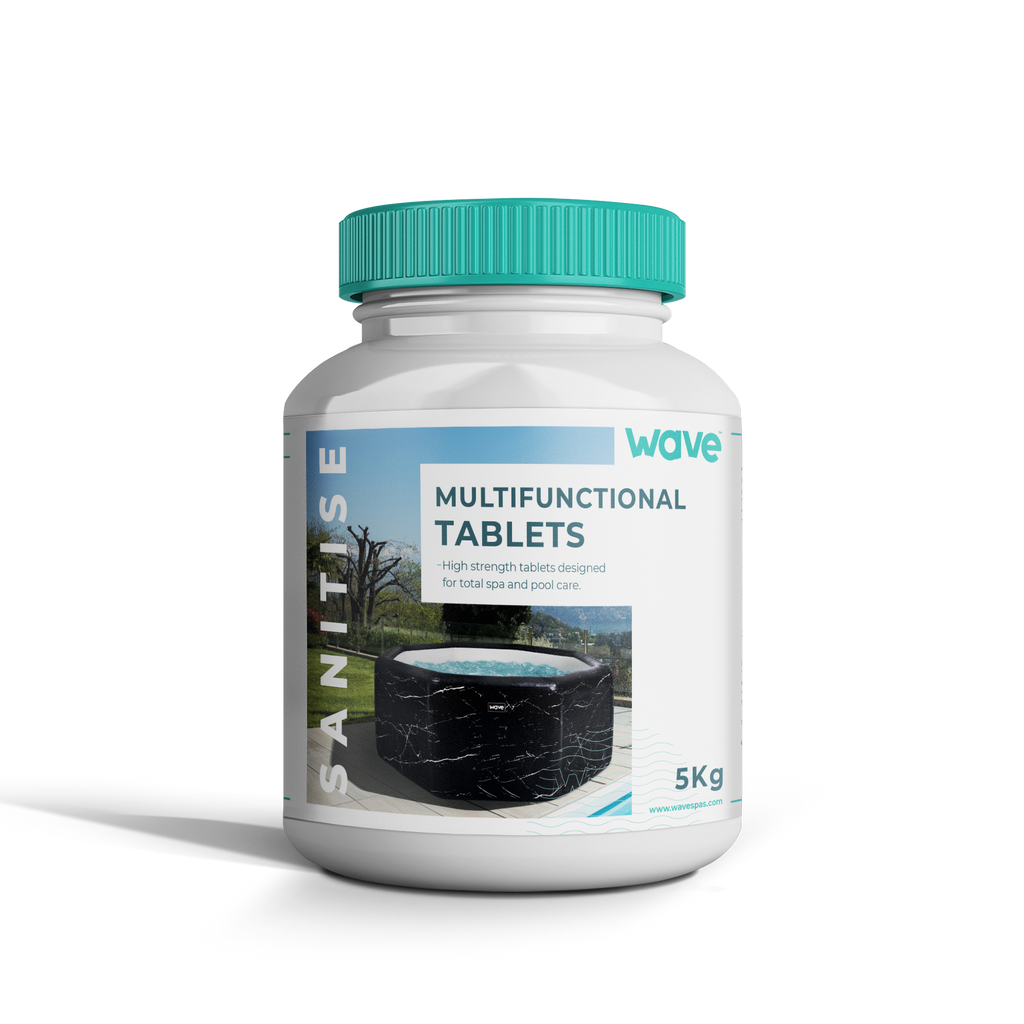 PRE-ORDER (Delivery mid-April 2021) - Hot Tub/ Spa Multi Functional Tablets (250 x 20g Chlorine Tablets) 5KG