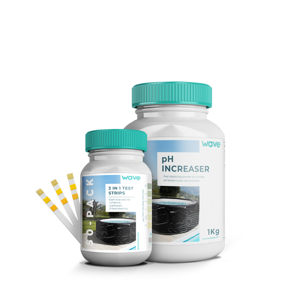 PRE-ORDER (Delivery mid-April 2021) - 1 Premium pH Increaser 1 Litre & 1 Water 50 Test Strips (3 in 1)