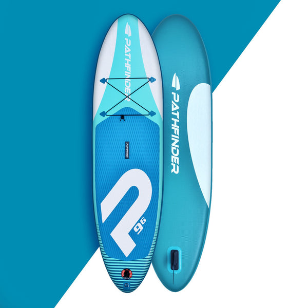 In Stock - Wave Pathfinder Inflatable Paddle Board SUP - Aqua 9' 6'