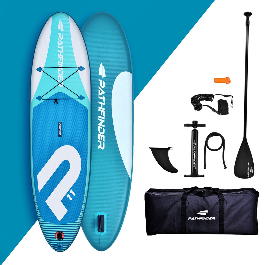 Pre Order - Wave Pathfinder Inflatable Paddle Board SUP - Aqua 11' - Delivery 4th January 2021