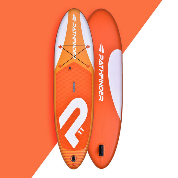 In Stock - Wave Pathfinder Inflatable Paddle Board SUP - Orange 11'