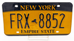 State of New York (Yellow) - License Plate