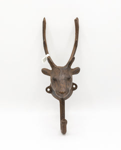 Copy of Decorative Cast Metal Reindeer Head Coat Hanger (small).