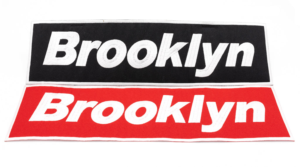 "BROOKLYN Patch 15""x4"" (Iron on)."
