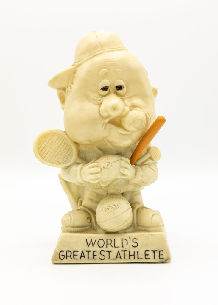 Russ Berrie & Co 1970's People Figurine - World's Greatest Athlete