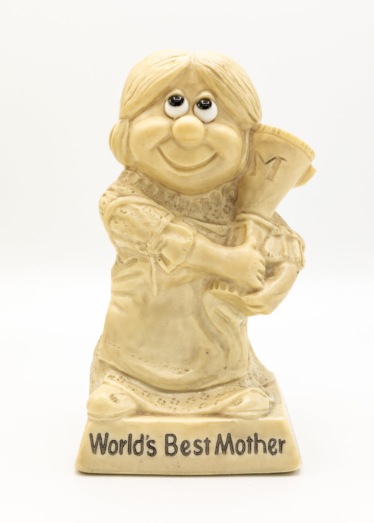 Russ Berrie & Co 1970's People Figurine - World's Best Mother