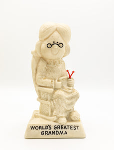 Russ Berrie & Co 1970's People Figurine - World's Greatest Grandma