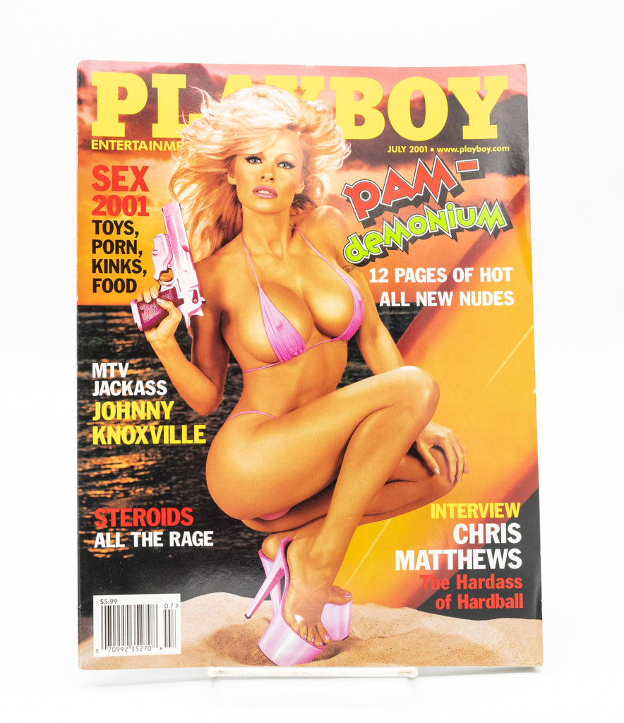 """Pam Demonium"" Pamela Anderson Playboy Magazine - July 2001"