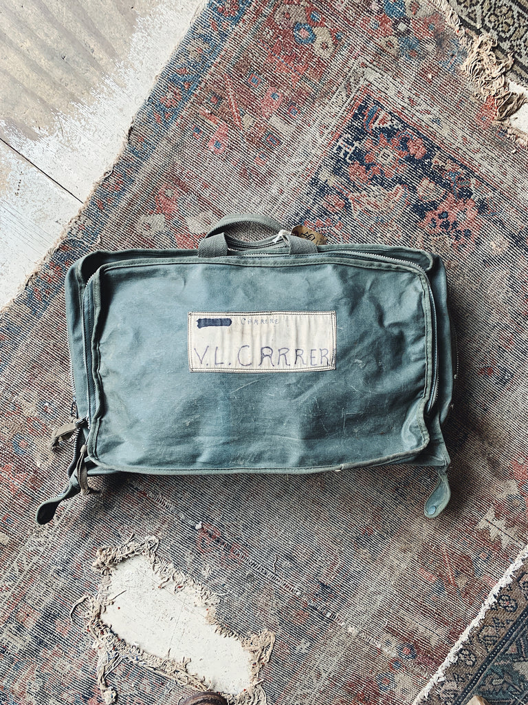 Vintage Waxed USAF Clothing Bag