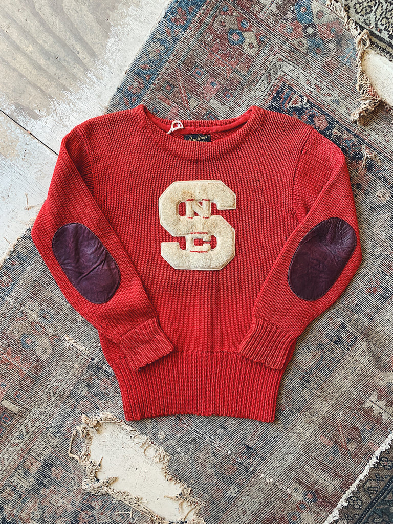 Vintage 1930s Era NC State Varsity Sweater - Size Small