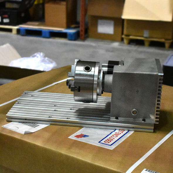 "Pre-Owned 5"" Rotary Indexing Device with manual chuck DP4500/DMC25"