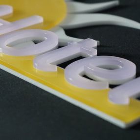An indoor/outdoor engraving material for laser and rotary applications