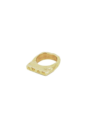 Urban Mystics Carved Italian Brass Ring