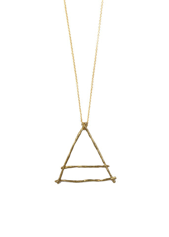 Alchemy Air Element Italian Brass Necklace Large