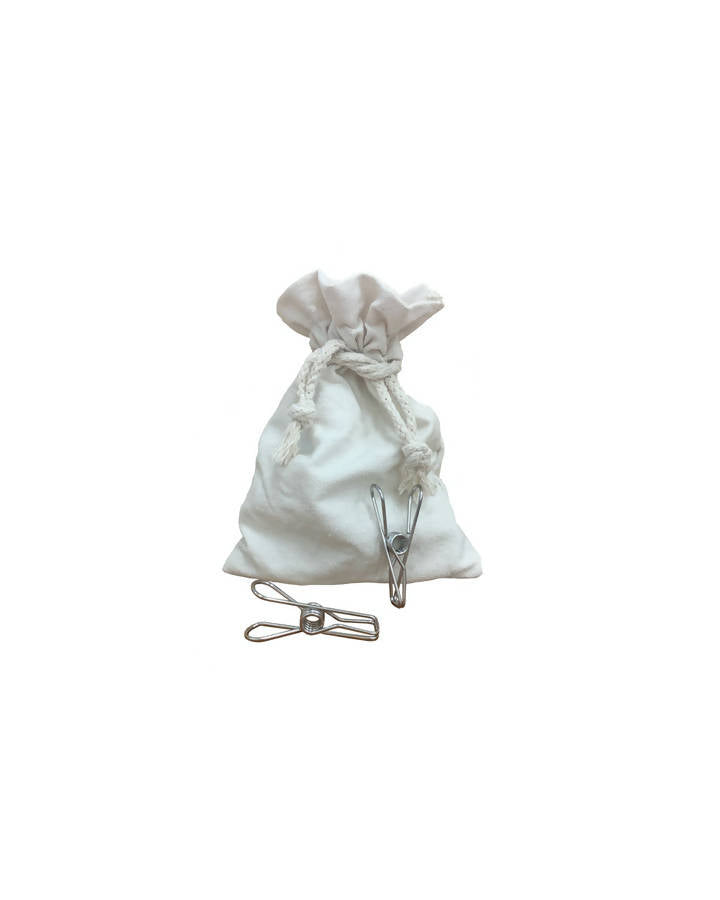 Stainless Steel Pegs in Cotton Bag