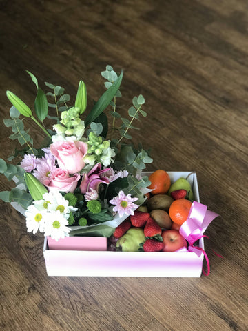 Seasonal Fruits and Flower Hamper