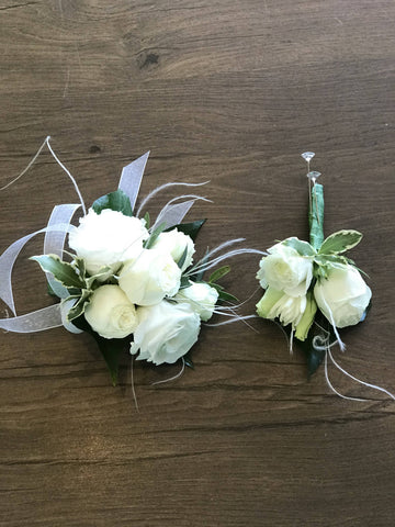Whimsical Corsage and Buttonhole