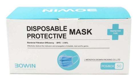 Bowin 3-PLY Disposable Protective Face Masks