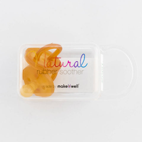 Natural Rubber Soother - Made by MakeUwell
