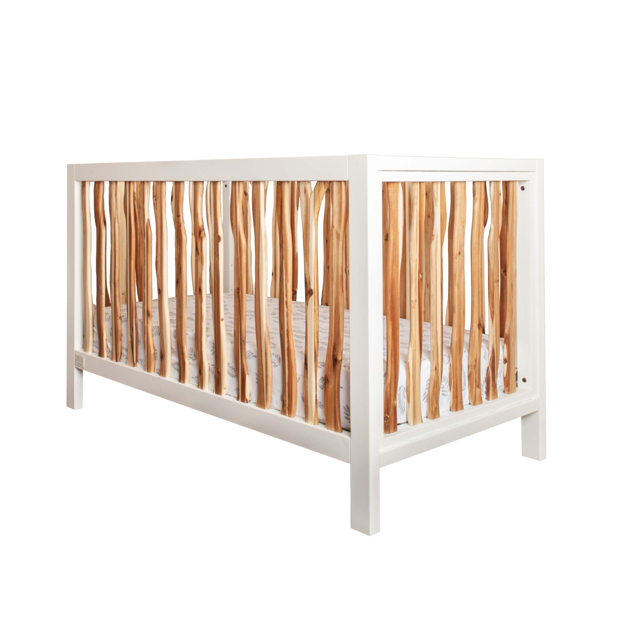 Milk Street Baby Branch Acacia & Snow Convertible Crib