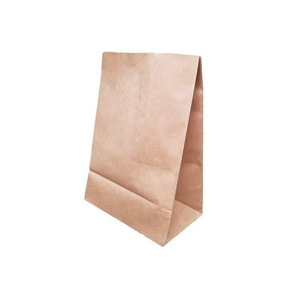 SOS Block Bottom Brown Paper Bag