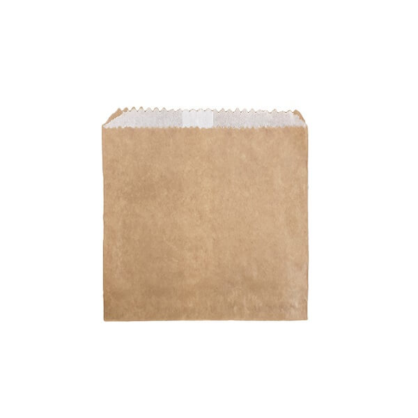 Flat Paper Bag Brown - Greaseproof Lined