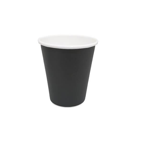 Black Single wall paper hot cups