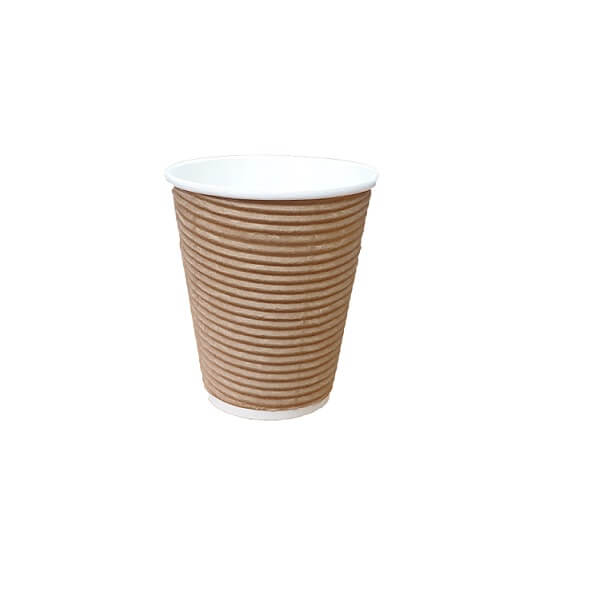 Brown twist triple wall paper cup | BSB Packaging