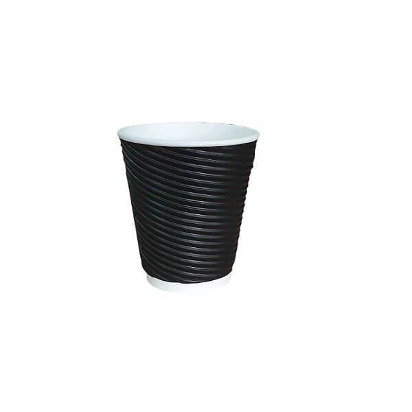 Black twist triple wall paper cup | BSB Packaging