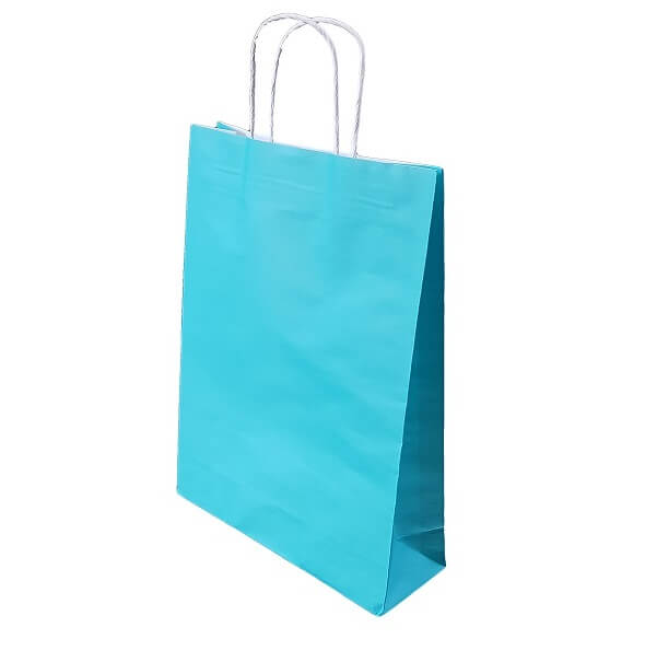 Junior Paper Bag Beach Blue - With Twist Handle