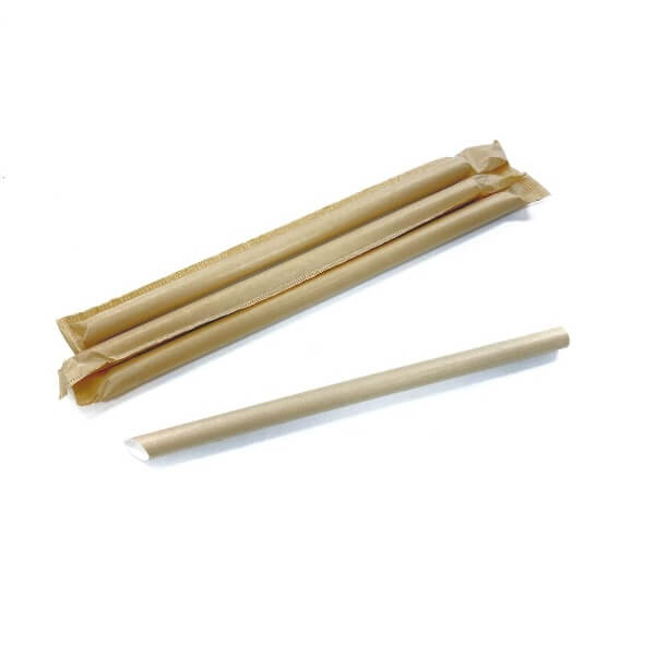 Bubble Tea Kraft Paper Straws (Individually Wrapped)