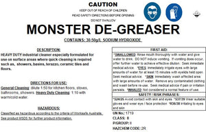 Magic clean, monster degreaser | BSB Packaging