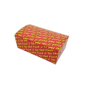 Hot Food 2 Go Cardboard Snack Box