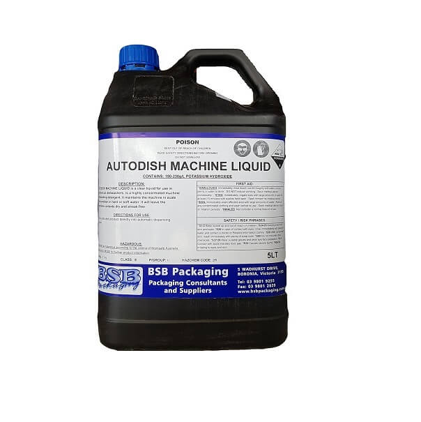 Dishwashing auto machine liquid | BSB Packaging