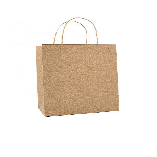 Small Boutique - Brown Paper Bag Twist Handle