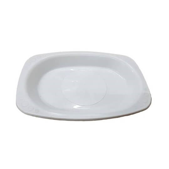 Oval White Plastic Plates